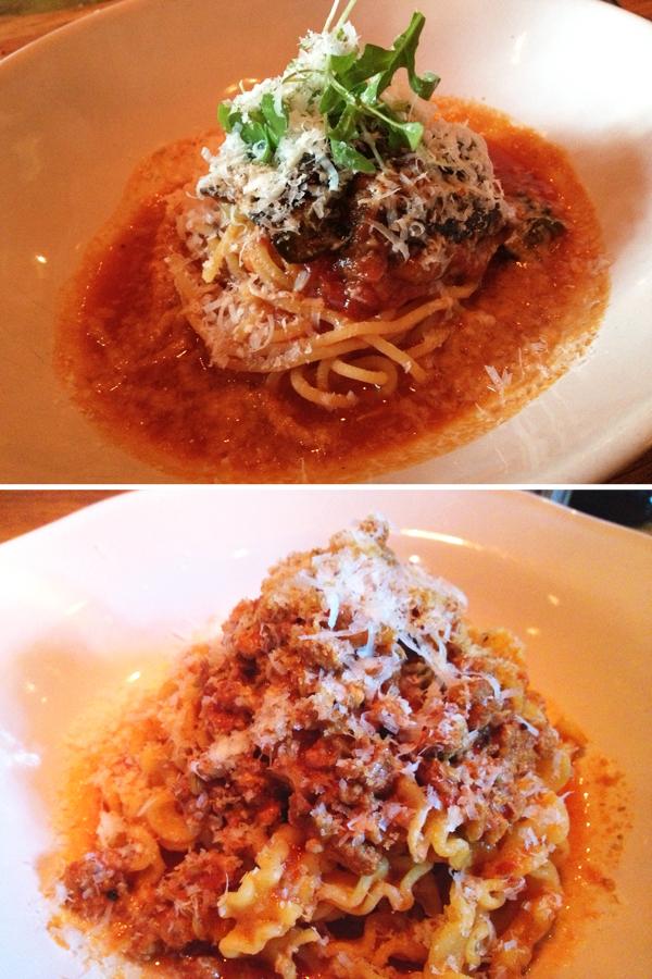 Jamie's Italian: Pasta alla norma & sausage pappardelle