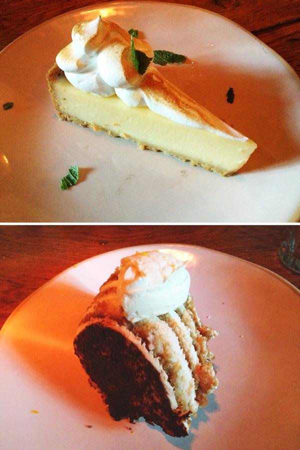 Jamie's Italian: Tutti Frutti Lemon Meringue Pie & Tiramisu