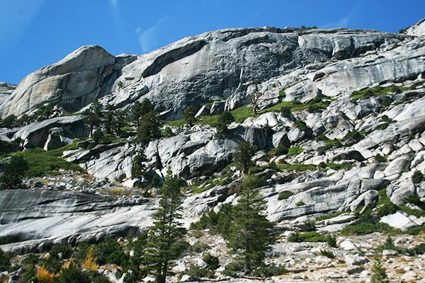 Yosemite National Park vanuit de auto