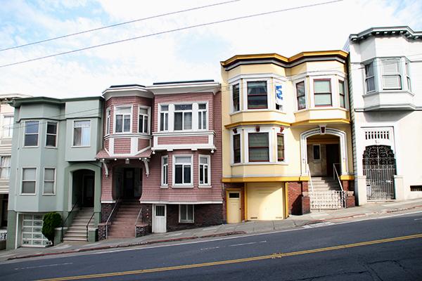 Een selectie van schattige huisjes in San Francisco