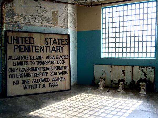 Expositiehal op Alcatraz